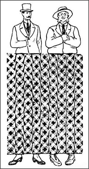обман зрения кривые линии